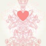 Priorità bassa floreale romantica sveglia Royalty Illustrazione gratis