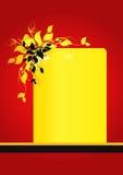 Priorità bassa floreale rossa Immagini Stock Libere da Diritti