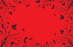 Priorità bassa floreale rossa Immagine Stock Libera da Diritti