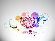 Priorità bassa floreale variopinta del cuore di giorno dei biglietti di S. Valentino illustrazione vettoriale