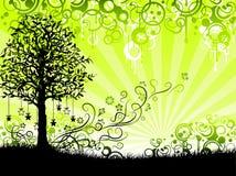 Priorità bassa floreale verde Immagine Stock Libera da Diritti