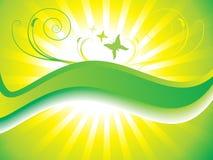 Priorità bassa floreale verde astratta Immagini Stock