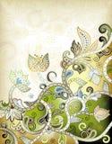 Priorità bassa floreale verde astratta Fotografia Stock Libera da Diritti