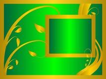 Priorità bassa floreale verde convenzionale illustrazione vettoriale