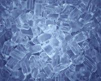 Priorità bassa fredda fresca del cubo di ghiaccio Fotografia Stock Libera da Diritti