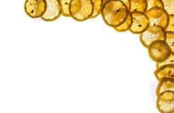 Priorità bassa fresca del limone Fotografia Stock