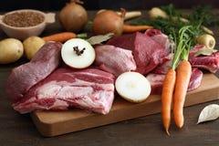 Priorità bassa fresca della carne grezza Fotografie Stock