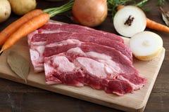 Priorità bassa fresca della carne grezza Fotografia Stock