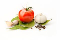 Priorità bassa fresca della vitamina con alloro Fotografia Stock