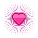 Priorità bassa Funky del cuore Immagine Stock