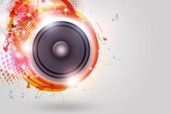 Priorità bassa Funky dell'altoparlante forte di musica Fotografie Stock Libere da Diritti