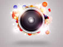 Priorità bassa Funky di musica Fotografia Stock