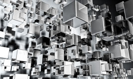 priorità bassa futuristica 3D Immagine Stock