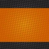 Priorità bassa futuristica del carbonio e dell'arancio Fotografie Stock