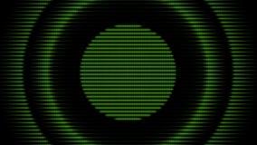 Priorità bassa futuristica del cerchio Anello verde di energia illustrazione di stock