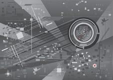 Priorità bassa futuristica, illustrazione di vettore Fotografia Stock Libera da Diritti