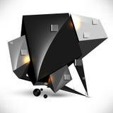 Priorità bassa futuristica metallica del blocco per grafici di vettore 3d illustrazione di stock