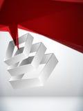 Priorità bassa geometrica astratta 3D Immagine Stock Libera da Diritti