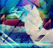 Priorità bassa geometrica astratta di figure Fotografia Stock