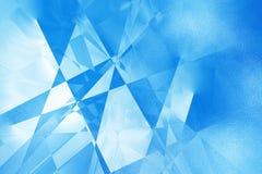 Priorità bassa geometrica blu Fotografia Stock