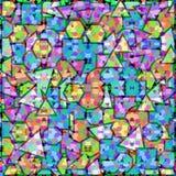 Priorità bassa geometrica colorata Fotografie Stock