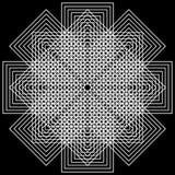 Priorità bassa geometrica di illusioni illustrazione vettoriale