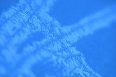 priorità bassa ghiacciata blu Fotografie Stock Libere da Diritti