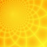 Priorità bassa gialla & arancione astratta di frattalo Fotografia Stock