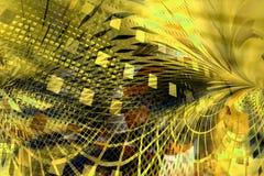 Priorità bassa gialla astratta Fotografia Stock
