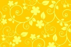 Priorità bassa gialla del fiore illustrazione vettoriale