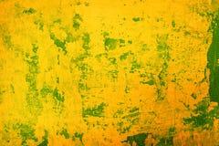 Priorità bassa gialla del grunge Fotografia Stock Libera da Diritti