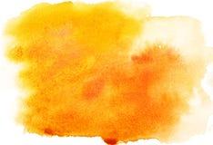 Priorità bassa gialla dell'acquerello fotografia stock libera da diritti