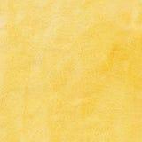 Priorità bassa gialla dell'acquerello Fotografia Stock