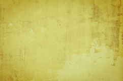 Priorità bassa gialla della parete Fotografia Stock Libera da Diritti