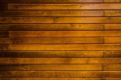 Priorità bassa gialla della parete di legname del primo piano Fotografia Stock Libera da Diritti