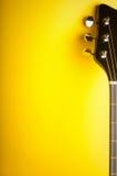 Priorità bassa gialla di musica fotografie stock