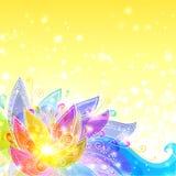 Priorità bassa gialla di vettore dei fiori brillanti Fotografia Stock Libera da Diritti