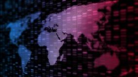 Priorità bassa globale astratta di tecnologia Mappa di mondo creata dai punti di prospettiva e dalla forma d'ardore della geometr illustrazione vettoriale