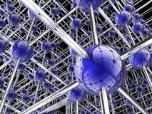 Priorità bassa globale del collegamento Immagine Stock Libera da Diritti
