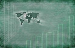 Priorità bassa globale di tecnologia Immagine Stock