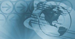 Priorità bassa globale di tecnologia - azzurro Immagini Stock