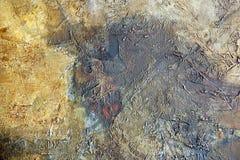 Priorità bassa, gray ed oro astratti del oilpaint Fotografie Stock Libere da Diritti