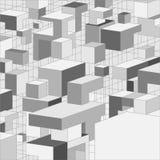 Priorità bassa grigia astratta 3D per il disegno Immagine Stock