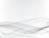 Priorità bassa grigia astratta Linee ondulate ed onde astratte grige Vettore eps10 Fotografia Stock Libera da Diritti