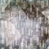 Priorità bassa grigia astratta Rettangoli e forme Artsy del triangolo nel modello casuale Fotografia Stock