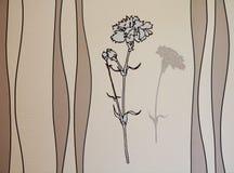 Priorità bassa grigia del fiore royalty illustrazione gratis