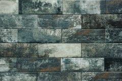 Priorità bassa grigia di struttura del muro di mattoni tiled fotografia stock