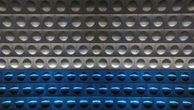 Priorità bassa grigia e blu del metallo lucido cosmico Immagini Stock