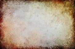 Priorità bassa Grungy in bianco della tela di canapa Fotografia Stock