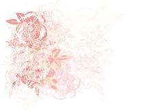 Priorità bassa Grungy delle rose Fotografia Stock